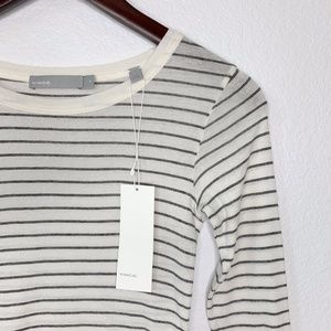 VINCE Striped Long Sleeve Tee NWT